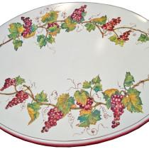 table céramique décor raisins FD Méditerranée Nice