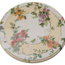table céramique décor raisins FD Méditerranée